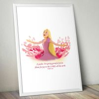 Rapunzel quick drawing with Bible verse by digitalartistbem