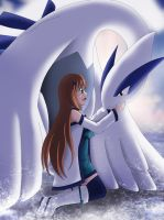 Haine and Lugia by lovelychu