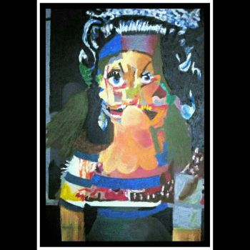 After George Condo  4 oh the queen (variations on  by cvisuali