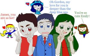 James, Gordon and Emily Fans by dannichangirl