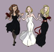The bride and her crew by pixarjunkie