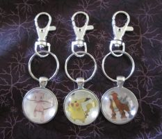 Pokemon Key CHains by lcponymerch