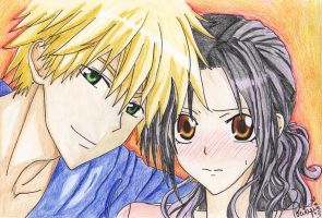 Usui and Misaki by The--bird--alone
