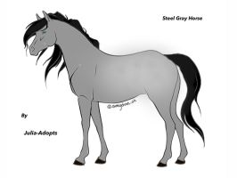 Steel Gray Horse Adoptable by Julia-adopts