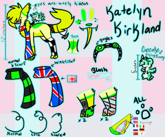 Katelyn Feral ref by wingdingaster