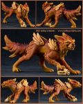 Commission : Fiery Foo Dog by emilySculpts