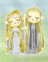 Galadriel and Celeborn by Borgona
