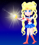 I have a wand (Sailor Moon) [colored] by MikariStar