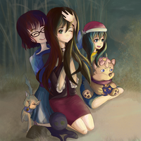 Birthday Surprise by a campfire by SaucerQueen