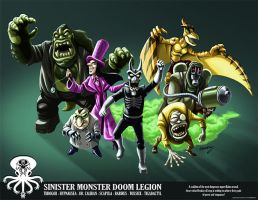 SINISTER MONSTER DOOM LEGION by DadaHyena