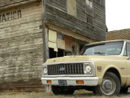 The Chevrolet and the General Store by QuanticChaos1000