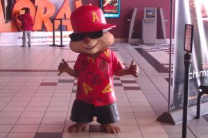 Alvin statue at cinema by DearestLeader