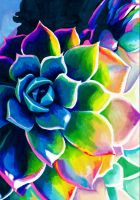 Supplication Succulent by PaintMyWorldRainbow