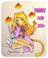 Thanks for 200+ by Youlien