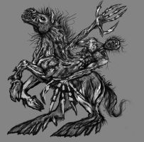 A little more done on Nuckelavee by Meadowknight