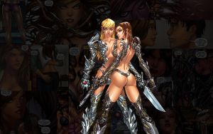 Witchblade.BunsAndSteel by Troilus