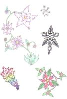 flower tattoo designs by crazyeyedbuffalo
