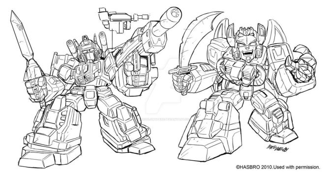 Robot Heroes Japanese G1 guys by MarceloMatere