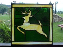 John Deere Stained Glass by AutobotWonko