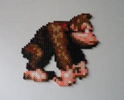 Donkey Kong Country BeadSprite by monochrome-GS