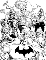 The World of Batman - Inks by BIG-D-ARTiZ