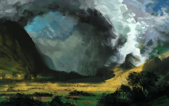 Storm In The Mountains - Study by MonoFlax