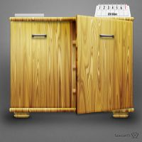 Wood Cabinet by Szesze15