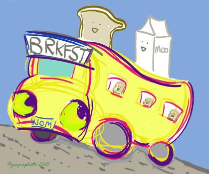 Cereal Bus by GuardienOfThePyre