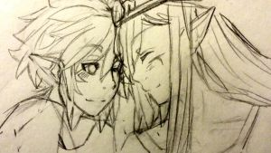Vaati and Link by blackorchid2007