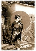 Geisha from Gion Street by emograph