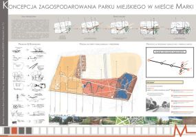 Plan of square development in Marki/Warsaw, Poland by MBudyta