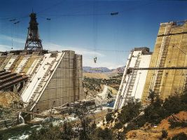 Shasta dam under construction by makepictures