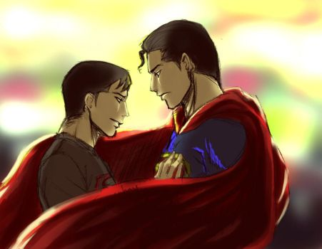 Superboy And Superman by ViciousJay