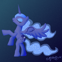 Luna with Stars by MelodyCrystel