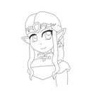 Zelda Lineart by CybertronianGirl01