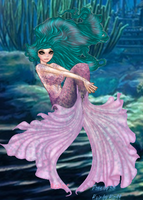 Purple Mermaid by Decorus-Somnium