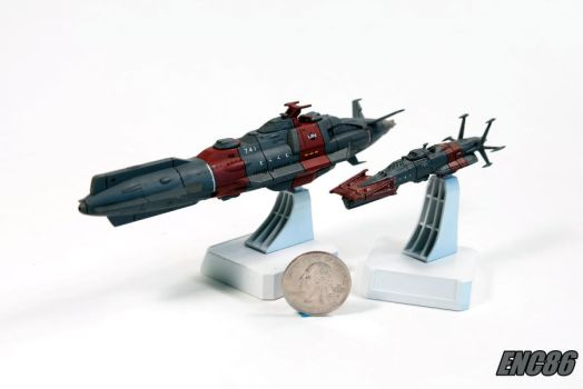 Space Cruiser and Destroyer by enc86