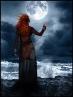 The Gipsy woman and the Moon by YourSweetAgony
