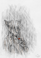 Red in gray by fecama