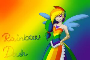 Rainbow Dash Gala Dress by Littledudus