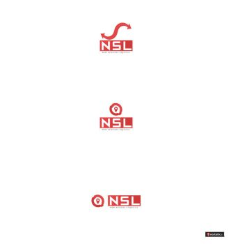 NSL new solutions logistics LOGOTYP by Dziuniart