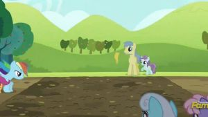 Scootaloo and Rainbow Dash at the mudpit (Cropped) by CMC--Scootaloo