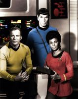 Captain Kirk, Spock and Uhura by HappyRussia