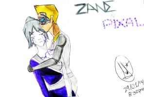 Zane and P.I.X.A.L by Cathyrhapsodiana