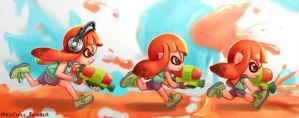 Splatoon Chibs by NeoCoill