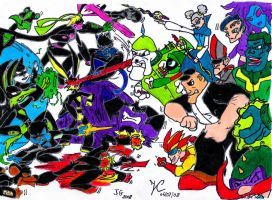 Loonatics Extreme vs. Villains by SonicPossible00