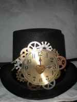 Clock and Gears Top Hat by Oriana-X-Myst