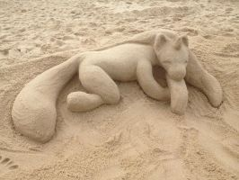 Sand Unicorn (2012) by Nonsanity-Cat