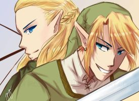 Legolas and Link by Sapphirestone91099