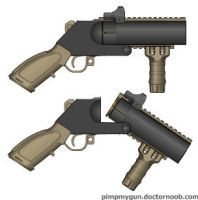 40 mm grenade pistol. by gokhan-of-the-light